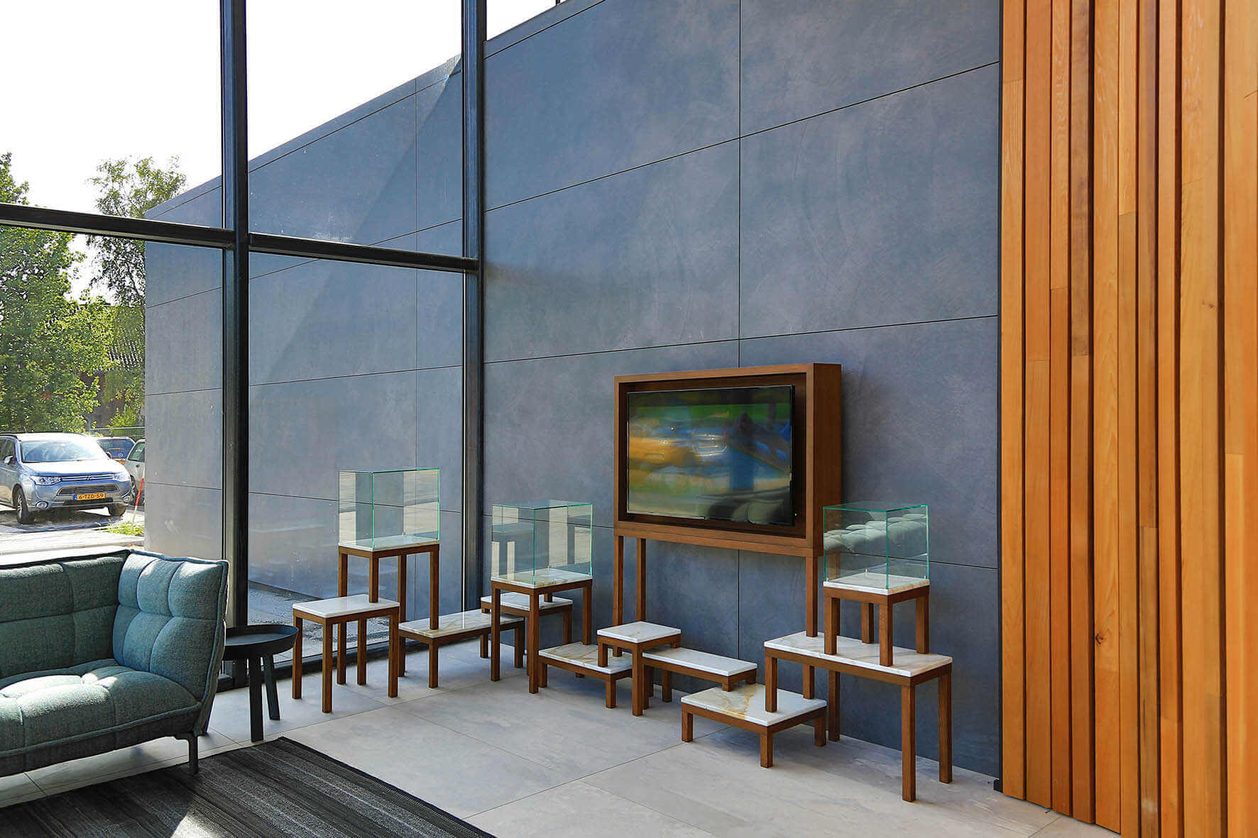 Porcelain slabs in interior design projects