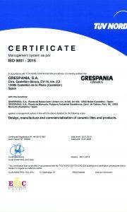 GRESPANIA 9001_2019 eng